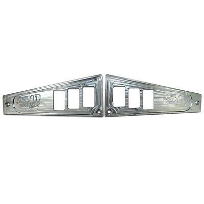 6 Switch Dash Panel Set of 2 Aluminum Raw Machined Finish fits 2017+ RZR XP1000