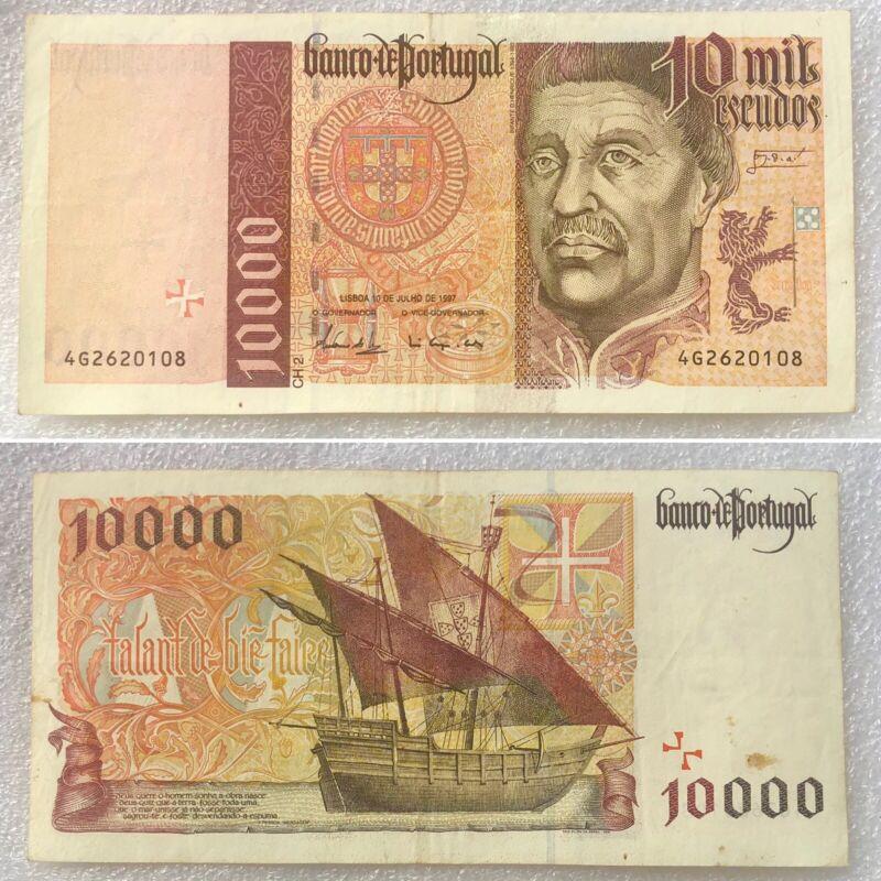 Portugal 10000 Escudos 1997 Rare Banknote TOP!