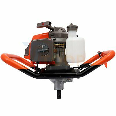 63cc Post Hole Digger Machine Gas Powered Auger Earth Drills Single Cylinder