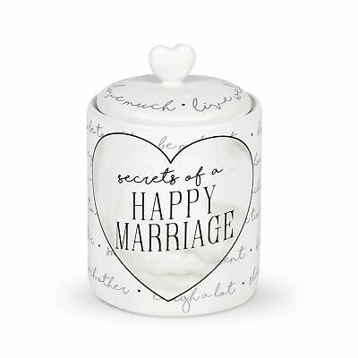 Enesco Our Name is Mud Happy Marriage Wedding Wish Jar and Paper Set 6.375 Inch