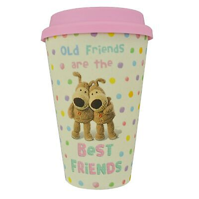 Boofle Best Friends Bamboo Travel Mug With Silicone Lid & Band Eco Refill