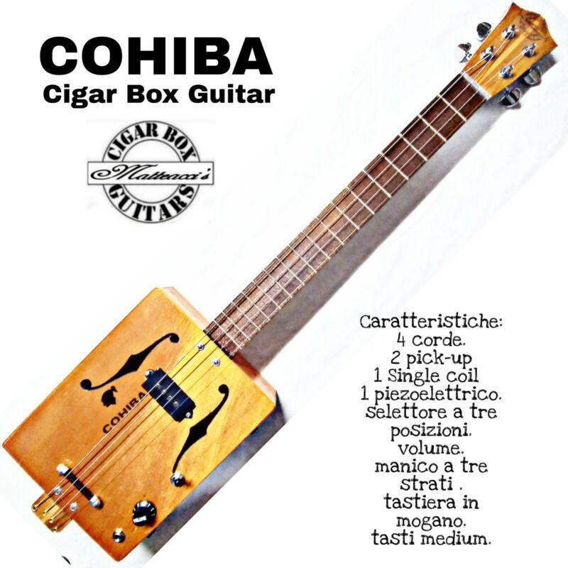 Cigar Box Guitar  COHIBA 4Tp/precision Robert Matteacci's.