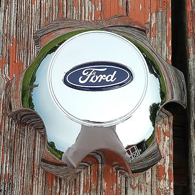 NEW 09-13 Ford Expedition F150 OEM Chrome Center Cap w/ Blue Oval 9L34-1A096-FB Expedition Center Cap