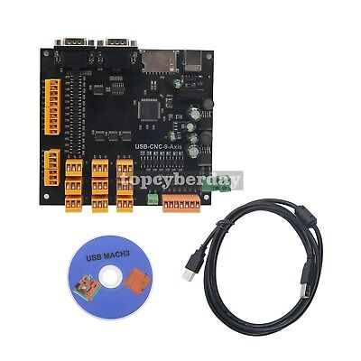 9axis Cnc Controller Kit 100khz Usb Stepper Motor Control Breakout Board Cable
