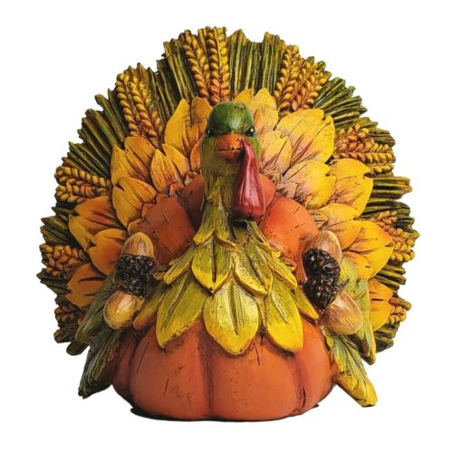 Delton Thanksgiving Leaf Tail Turkey Figurine - NEW