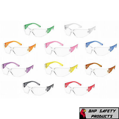 Gateway 3699 Gumballs Clear Lens Safety Glasses Multicolor Frames Small Sz 10pr