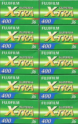 10 Rolls Fuji Fujicolor Superia X-tra CH ISO 400 36  35mm Color Print Film