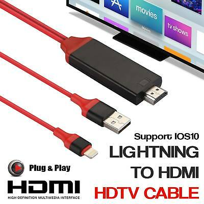 2M 8 Pin Lightning to HDMI TV AV Cable Adapter for iPhone 7 Plus 6 6s 5 iPad UK