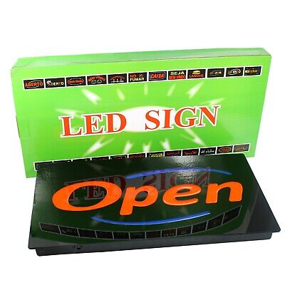 Led Neon Open Business Sign For Bar Restaurant Cafe - Horizontal - Upscale