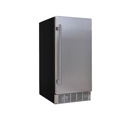 """EdgeStar IB250 15""""W 20 Lb. Built-In Ice Maker - Stainless Steel"""