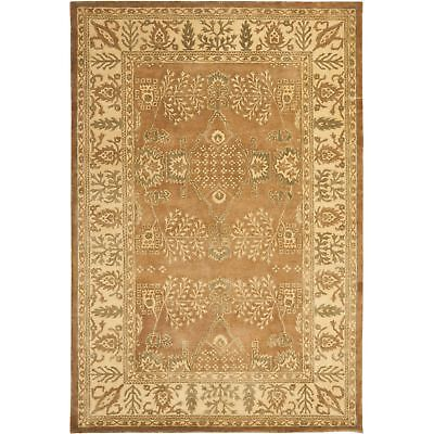 Safavieh Bergama Light Brown/Beige Wool Area Rug 5' x 8' 5 Bergama Rectangle Rug