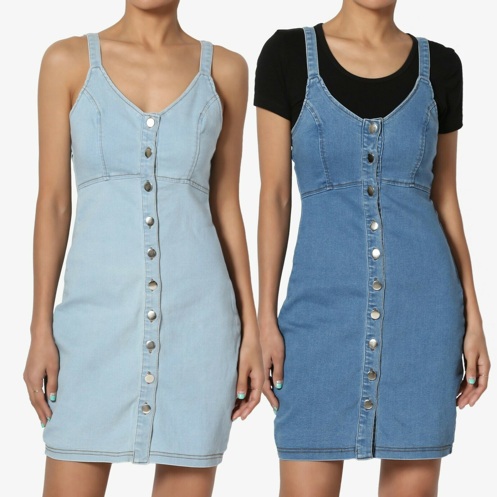 casual button front v neck tank strap