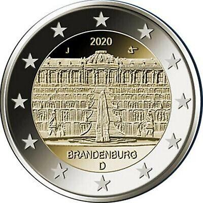 Duitsland -Allemagne 5x2 euro 2020 A,D,F,G,J  Brandenburg