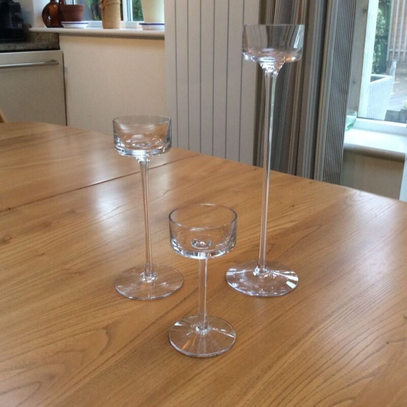 Wedgwood Brancaster Glass Candle Holders Set of 3