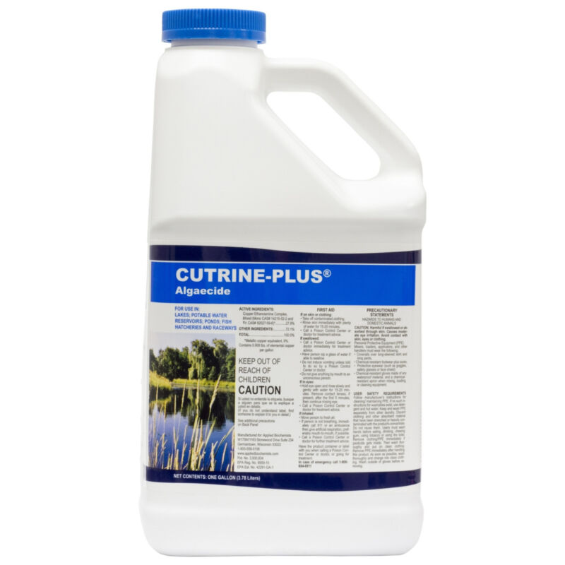 Applied Bio Chemists Cutrine Plus Algaecide 1 Gallon NOT FOR SALE TO: CT, ME, NY