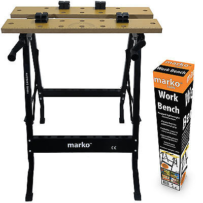 FOLDING WORKBENCH PORTABLE WORK BENCH TABLE TRESTLE FOLDING WORKTOP CLAMPING