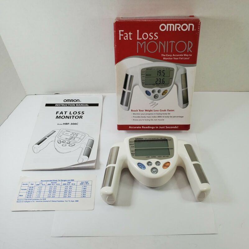 OMRON HBF-306C Handheld Fat Loss Monitor Very Good Condition - Works
