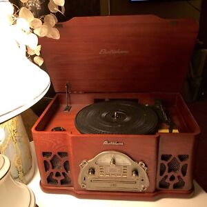ELECTROHOME Winston RETRO Record Player CD Aux Turntable MINT!