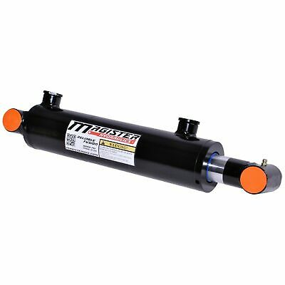 Hydraulic Cylinder Welded Double Acting 3 Bore 16 Stroke Cross Tube 3x16 New