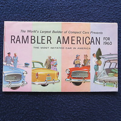 RAMBLER 1960 Dealer Brochure American Deluxe Club Sedan Super Station Wgn Poster