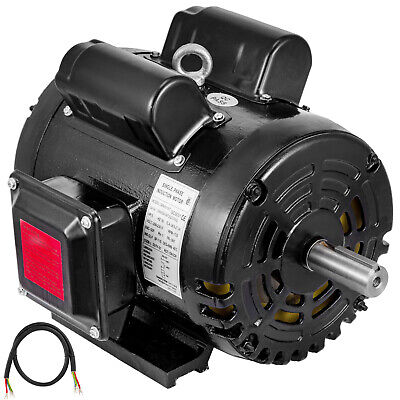 5hp Air Compressor Duty Electric Motor 184t Frame 1725 Rpm 208-230v Single Phase