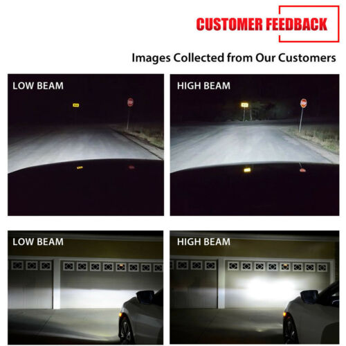 For Chevrolet Silverado 2500 HD 2018-2008 H11 Headlight Kit Beam Bulbs LED Light
