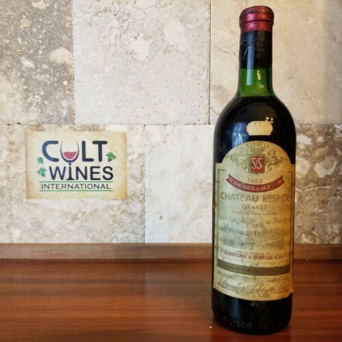 1964 Chateau Respide Bordeaux wine, Graves