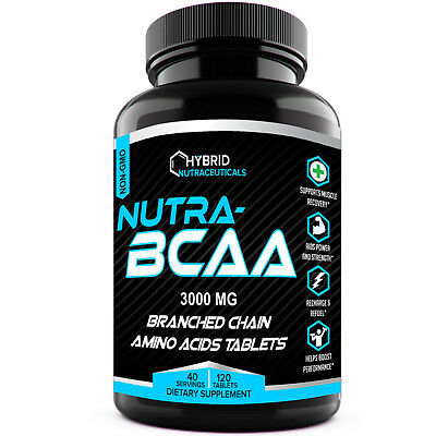 Nutra Bcaa 3000Mg Tablets  Pre And Post Workout  Non Gmo  Best Amino Acids