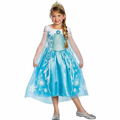 Elsa Halloween Costume Child (Frozen Elsa Deluxe Child Halloween Costume w/Tiara, Dress-Up Play -)