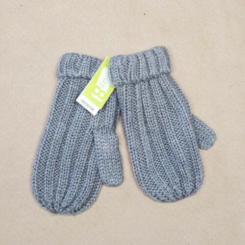 Crazy 8 Knitted Mittens Size 4T-5T Gray