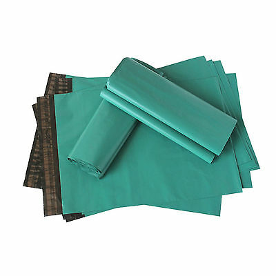 Green Plastic Mailing 100 Strong Postal 6 x 9 17x30cm Postage Packing Poly Bags
