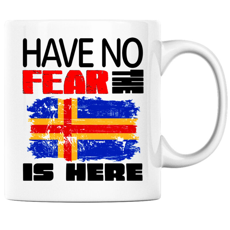Have No Fear the Alandic is Here Funny Coffee Mug Aland Heritage Pride