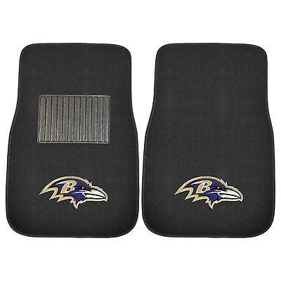 Baltimore Ravens 2 Piece Embroidered Car Auto Floor Mats