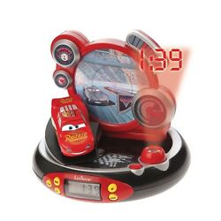 DISNEY CARS RADIO ALARM CLOCK PROJECTOR CHILDRENS LIGHTNING MCQUEEN OFFICIAL NEW