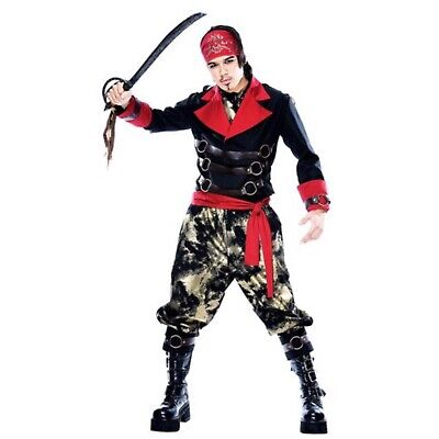 Men's Apocalypse Pirate Steampunk Pirate Costume Size Medium PMG Costumes