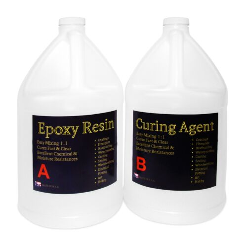 General use clear epoxy resin tabletops, concrete, wood coating - 2 GAL KIT