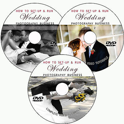 LEARN HOW TO SET UP/RUN WEDDING PHOTOGRAPHY BUSINESS TRAINING TUTORIAL ON 3 DVD