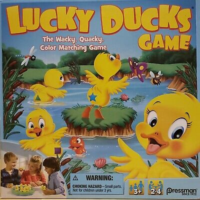 Lucky Ducks Game The Wacky Quacky Color Matching Board Game Ages 3+ Gift - The Ducks Game