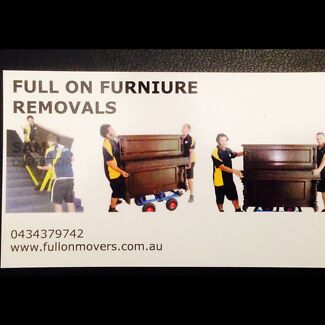 FULL ON FURNITURE REMOVALS MELBOURNE.QUALITY SERVICE & BEST PRICE.  Melbourne CBD Melbourne City Preview