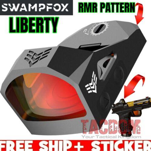 SwampFox Optics LIBERTY 1x22 3 MOA MICRO REFLEX WCover for RMR PATTERN CUT SLIDE