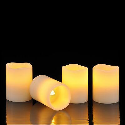 4er Set LED Kerzen zum Auspusten Echtwachs Kerze flammenlos flackernd Batterie