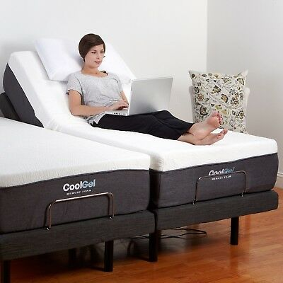 Twin XL Electric Bed Frame AND MATTRESS Adjustable Remote Massage -