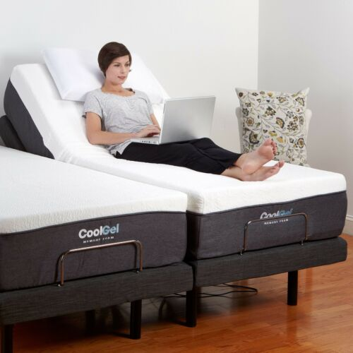 Twin XL Electric Bed Frame AND MATTRESS Adjustable Remote Massage Medical