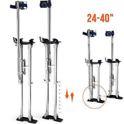 Drywall Stilts Aluminum 228 Lbs 24-40 Lightweight Taping Painter Tool Silver