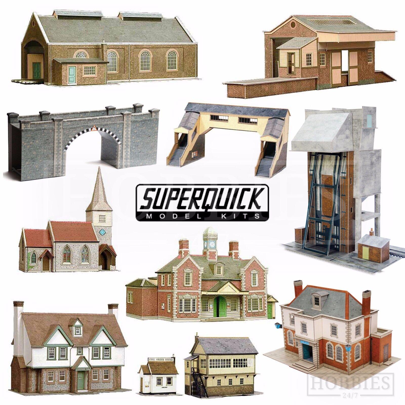 OO//HO Gauge- Series B No.24 Superquick Card Kit Greystones Farmhouse B24