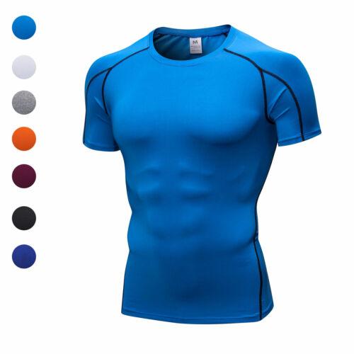 Herren Kompression Shirts Laufen Basketball Training Gym Kleidung Tops Dri-fit