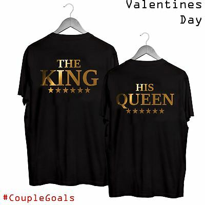 Valentines 01 The King His Queen T-Shirt Boyfriend Girlfriend Couple Goals Gift