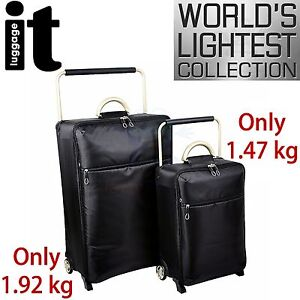2 Pc IT Luggage World's Lightest Trolley Case Suitcase Travel Bag Wheels Set New