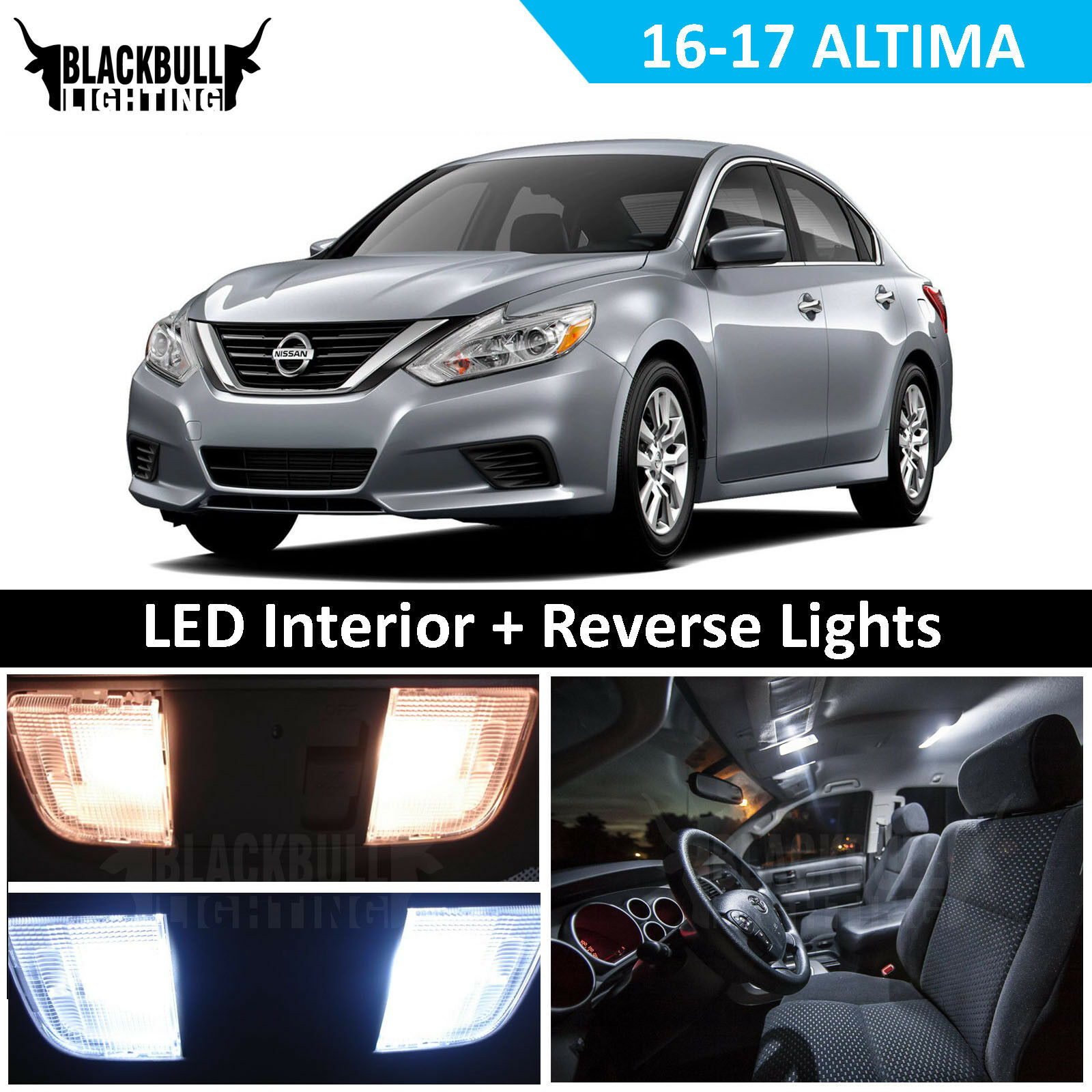 Reverse Replacement Kit fits 2016-2017 Nissan Altima White LED Interior Light