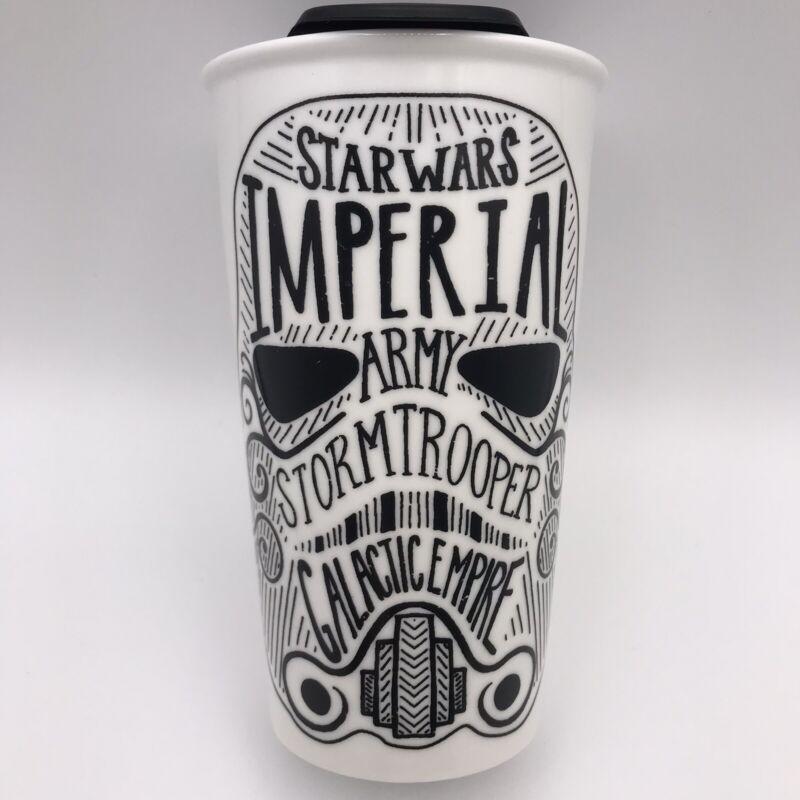Disney Star Wars Hallmark Stormtrooper Ceramic Travel Mug *RARE* Free Shipping